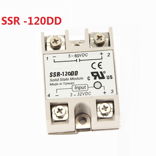 SSR-120DD DC control DC SSR white shell Single phase Solid state relay 120A input 3-32V DC output 5~60V DC 20dd ssr control 3 32vdc output 5 220vdc single phase dc solid state relay 20a yhd2220d