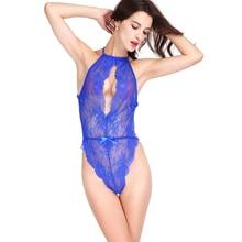 90d8b7c31c135 COLLEER Sexy Lingerie Lace Bralette Push Up Bra Set of Underwear Women  Transparent Plunge Nightwear Halter ...