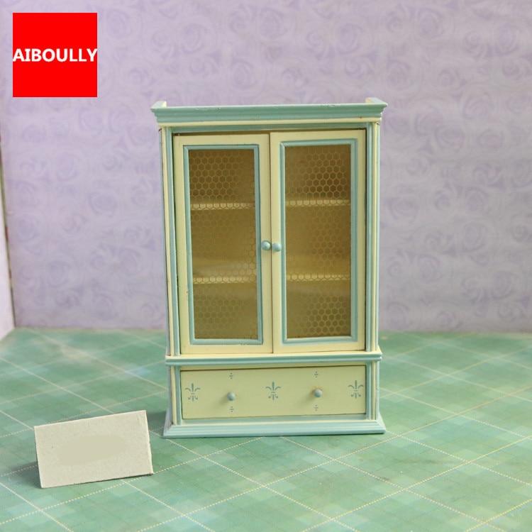 Nice 1 12 Scale Dollhouse Furniture #10: 1/12 Scale Dollhouse Furniture Wooden Miniature Bookshelf Display Cabinet  Cupboard Dollhouse Accessories For Children