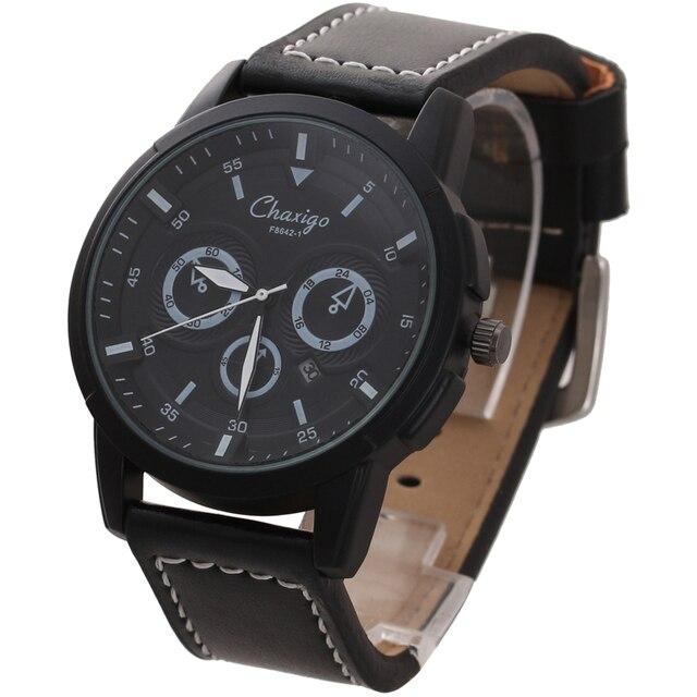 830ac984f38f Chaxigo Reloj de Cuarzo Marca Para Hombre Baratos Calendario Automático Reloj  Relojes de Pulsera de Diseño