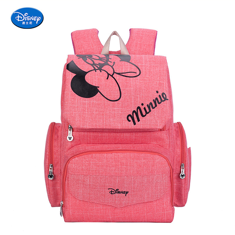 Disney Baby Diaper Bags Mickey Minnie Waterproof Maternity Nappy Diaper Stroller Bag Insulation Large Capacity Mochila Backpack