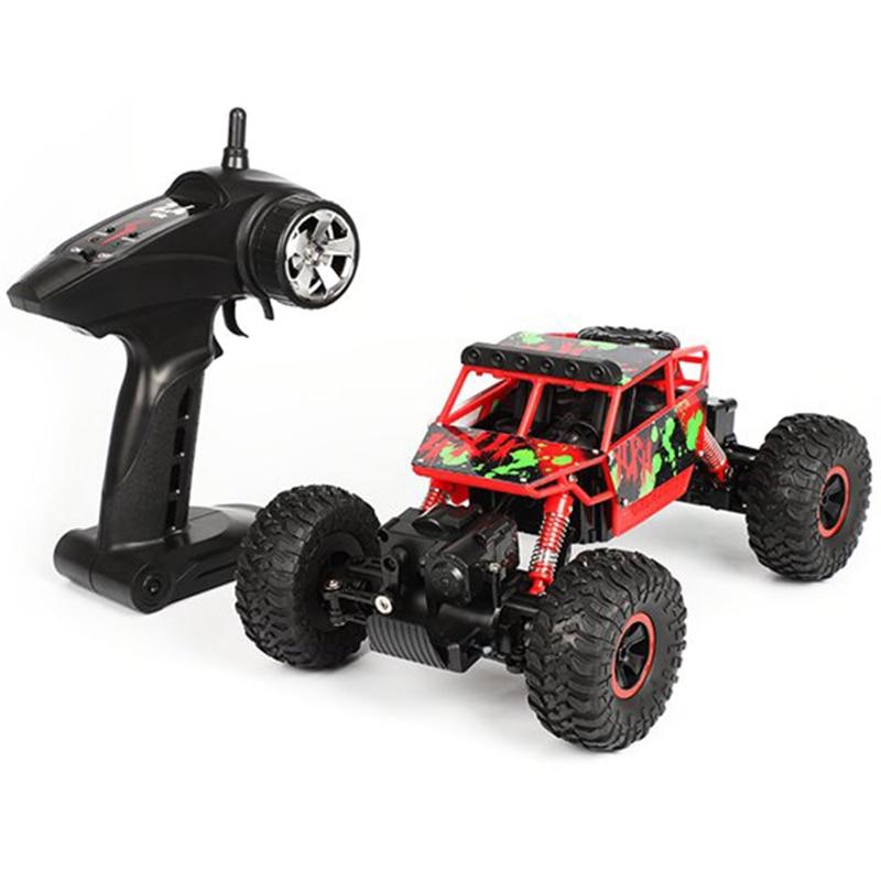 RC Voiture 1:18 Échelle 2.4g 4WD RTR Off-Road Buggy Haute Vitesse Voiture De Course Télécommande Camion 4 roue Grimpeur Bleu