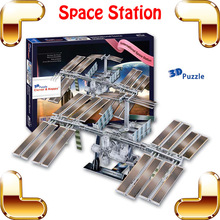 New DIY Gift Z-F005 International Space Station 3D Model Astronmy Puzzle Satellite Universe Equipment Education Toy