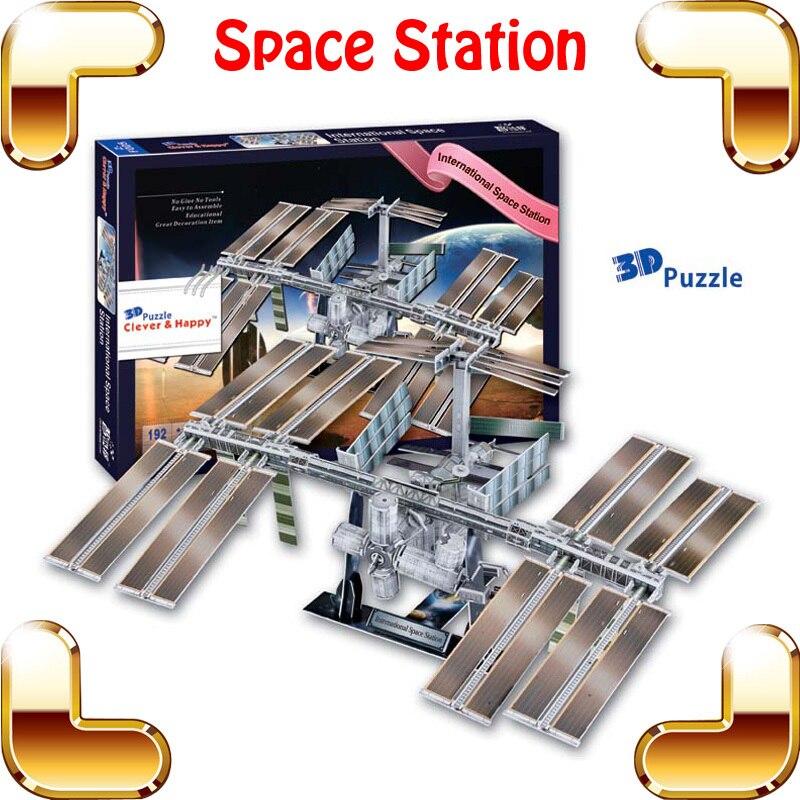 Nouveau bricolage cadeau Station spatiale internationale modèle 3D astronomie Puzzle modèle Satellite univers équipement éducation Puzzle jouet