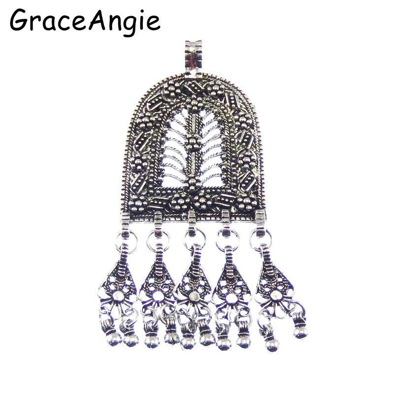 3 stks / pak Antiek Zilver Lichtmetalen Kwastje Ketting Oorbellen - Mode-sieraden - Foto 3