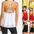 Torre Eiffel Halter de Encaje Sin Espalda O cuello de la camisa de la gasa de la hombro tops para mujer de moda de verano mujeres de la camiseta tops 2016