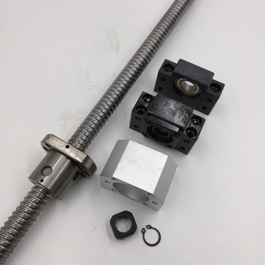 SFU2005 Ballscrew L-1000mm C7 Rolled Ball Screw Single Ballnut with BK15 BF15 Support Nut Bracket CNC Parts 2pcs ballscrew sfu3205 2500mm rm3205 rolled ball screw 2pcs ballnut page 11