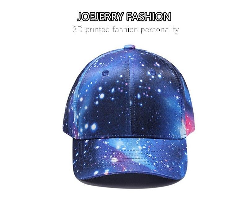 1dabfa99ff778 Joejerry cielo estrellado 3D impreso gorra de béisbol hombres hip ...