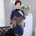 XL-XXXXL Woolen Coat Women Autumn Fashion Embroidery Wool Winter Coats O Neck Covered Button Long Cardigan Loose Casaco