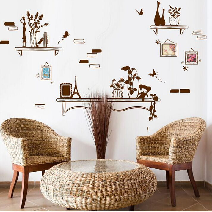 Online Shop Creative Romantic Vase Photo Frame DIY Wall Stickers Living Room  TV/Sofa Background Home Decor Mural Decal Stickers Wallpaper | Aliexpress  ...