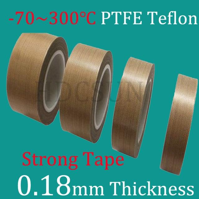 1 Roll 10m*0.18mm thickness PTFE Teflon Adhesive Tape Cloth Hi Temp ...
