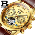 Switzerland BINGER watches men luxury brand Tourbillon sapphire luminous multiple functions Mechanical Wristwatches B8602-11