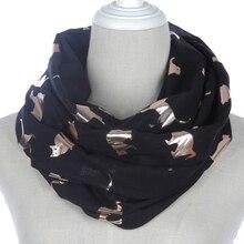 цена Winfox Fashion Loop Snood Scarf Female Shiny Pink Grey Navy Foil Gold Metallic Cat Loop Scarf Wrap Shawl Foulard Ladies Women онлайн в 2017 году