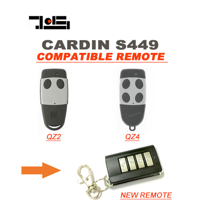 3pcs Cardin S449 Compatible Rolling Code Gate Door Remote Control Transmitter 433.92Mhz Cheap pric 5pcs high quality compatible remote transmitter key fob for cardin s449 qz 2 qz 4