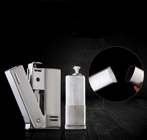 Image 4 - Brand IMCO 6800 Lighter Stainless Steel Lighter Original Oil Gasoline Cigarette Lighter Vintage Fire Retro Petrol Gift Lighters