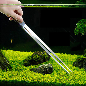 Image 5 - New Aquarium Scraper Tools Kit Tweezers Curve Scissor Storage Holder Fish Tank Water Plants Grass Stainless Steel Cleaning Tool