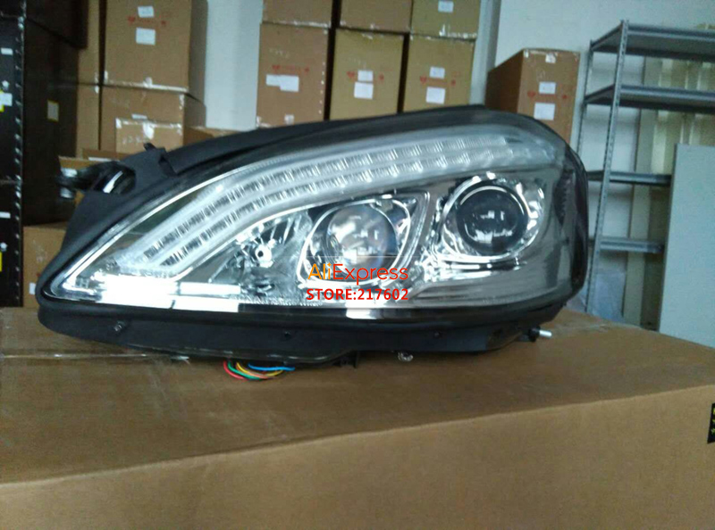 for Mercedes-Benz W221 S300 S320 S350 S450 S500 S600 LED headlights fit 06-08/09-13 year model Original with AFS function Silver