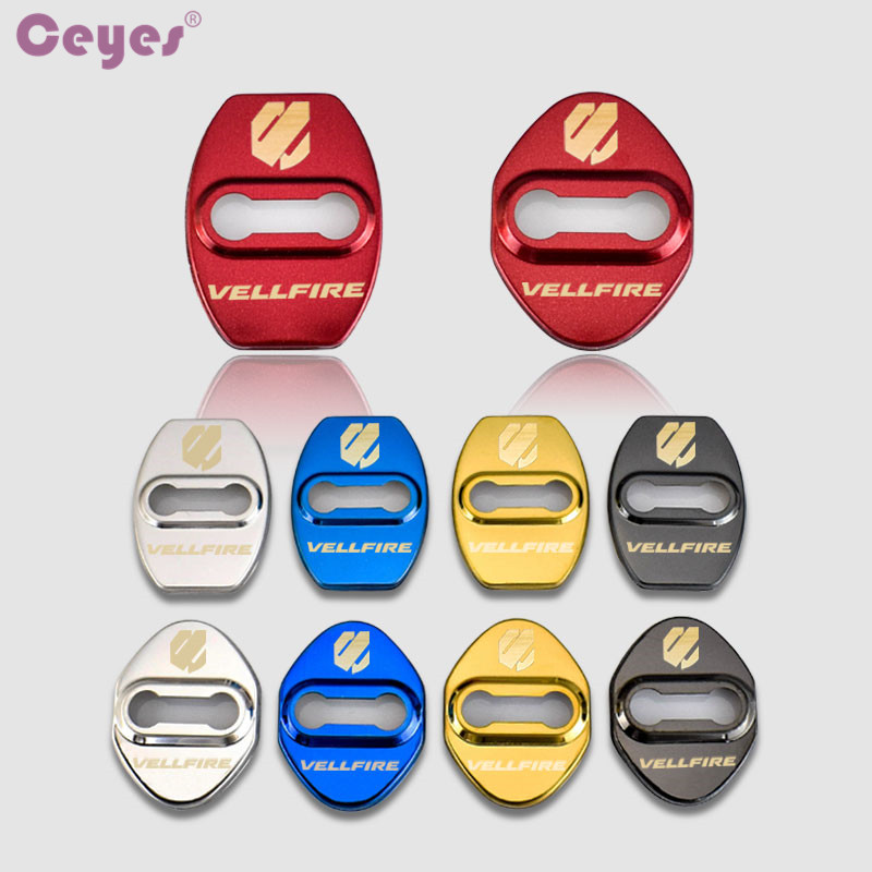 Ceyes Car Buckle Car Styling Case For Toyota Vellfire Alphard Camry For Lexus Car-Styling Auto Door Lock Cover Accessories 4pcs