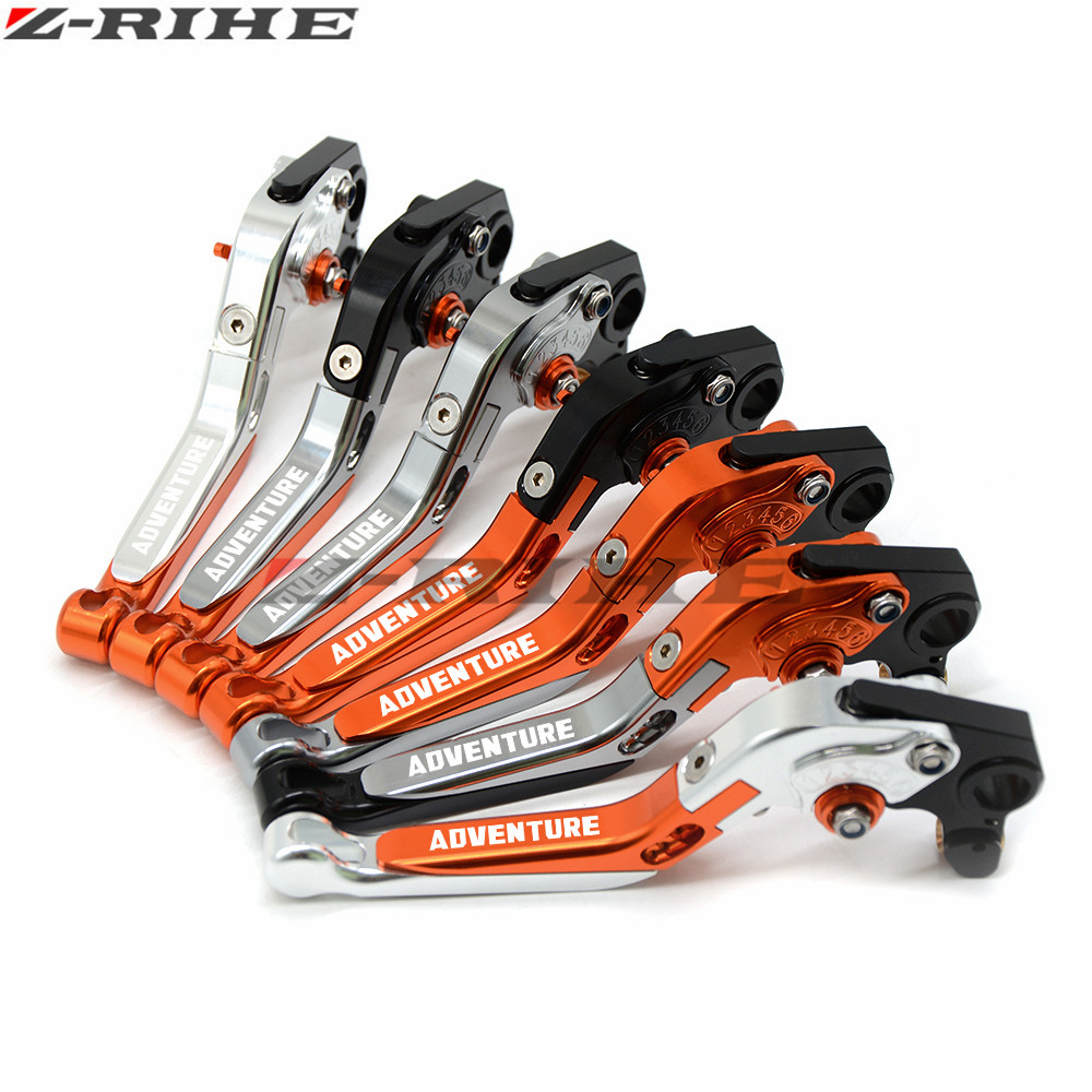 купить for KTM 1190 Adventure/Adventure R 13-2016  Super Adventure 1290 15-2016 CNC Motorcycle Folding Extendable Brake Clutch Levers недорого