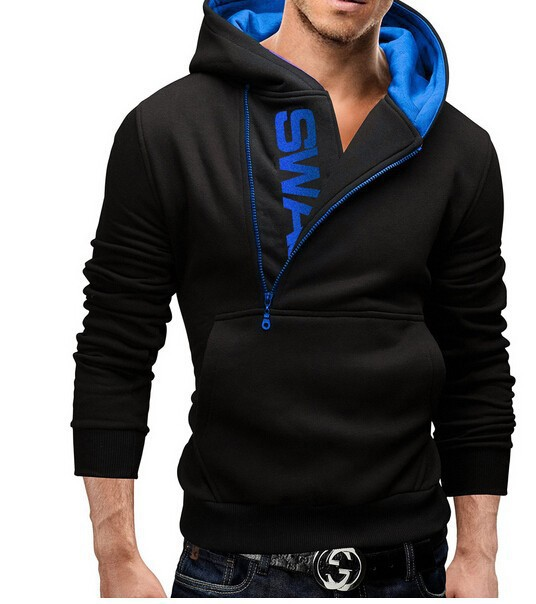 2016 New Style Mens Fashion Cardigan Napping Hoodies Popular Zipper Design Fleece Hoodie Jacket 5 colors Warm outwear