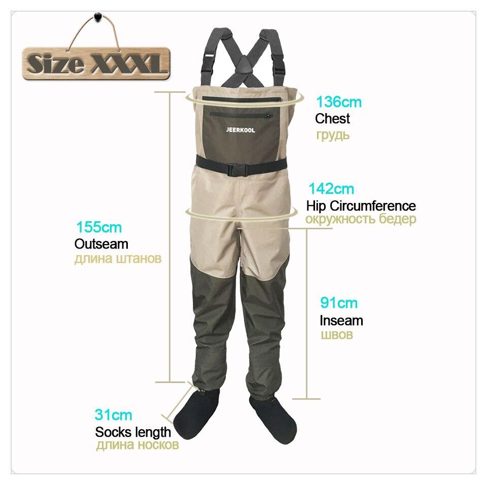 Pêche à la mouche cuissardes vêtements Portable poitrine salopette vêtements imperméables Wading pantalon bas pied bon comme Daiwa pour chaussures de poisson - 2