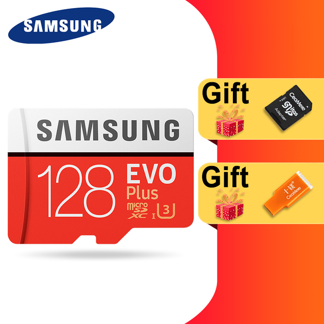 SAMSUNG 100% Original Micro sd Card 256G 128GB 64GB 100Mb/s Class10 U3 U1 SDXC Grade EVO+ flash card Memory Microsd TF/SD Cards