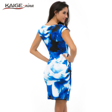 New Printed  Bodycon Dress Women Summer Dresses Kaige.Nina Brand Plus Size Women Clothing Sexy Dresses 9021