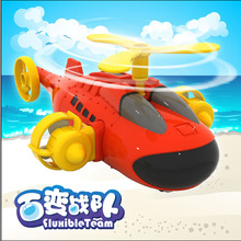 Fluxible Team Baby toy pull back car Battleship Fighter DIY plastic blocks playing toys Kids Children
