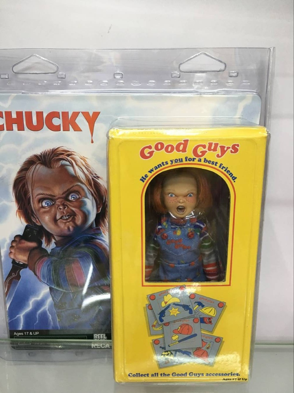 NECA Childs Play Good Guys Chucky Hammer <font><b>Bat</b></font> <font><b>Knife</b></font> Action Figure Toys Classic Terror Film Figurine image