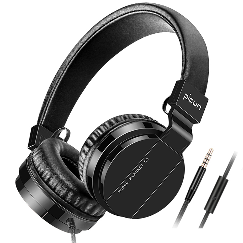 Sound Intone C3 Over Ear Headphones With Microphone And Volume Control Bass HiFi Sound Music Wired Headsets For PC Phone DJ Game merrisport bluetooth headphones with microphone over ear foldable portable music bass headsets for iphone htc cellphones laptop