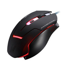 LED Backlight Wired Gaming Mouse 3 Levels DPI Adjustable USB Optical Mouse Backlit Computer Mouse 6 Buttons PC Mice for Laptop
