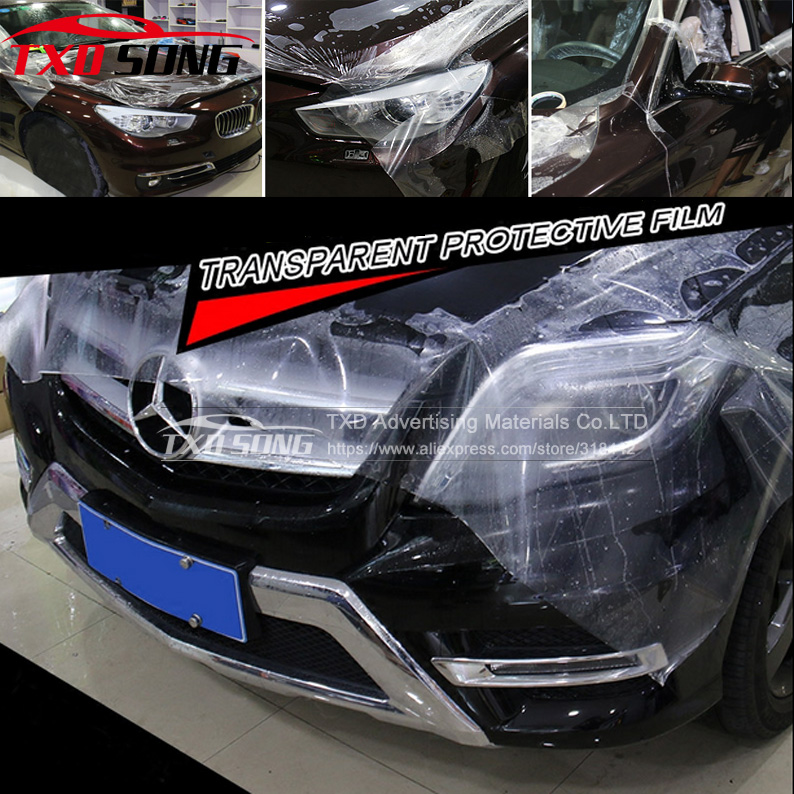 Paint Protection Film >> Us 213 97 5 Off Transparent 3 Layers Paint Protection Film Car Wrap Clear Protect Film Thickness 0 2mm Size 1 52 30m Roll In Car Stickers From