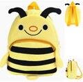 Presente para o bebê 1 pc 23 cm dos desenhos animados mini floresta linda abelha de pelúcia mochilas Satchel menina infantil lanche bolsa de ombro saco do brinquedo