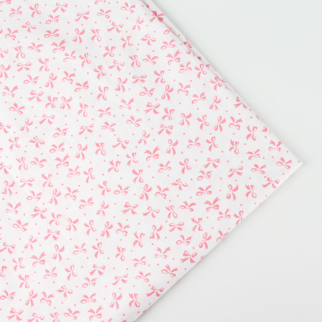 0.5mx158cm/piece printed Bow pattern cotton fabric tilda for baby ...
