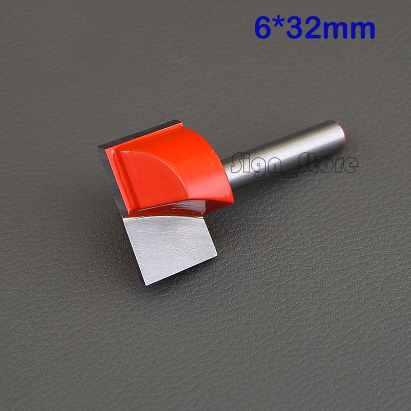 1pc Woodworkers CNC Router Bottom Cleaning Router Woodworking Bits SHK 6mm CED 32mm high quality 1pc cleaning bottom router bit cutter cnc woodworking clean bits 1 2 shank dia