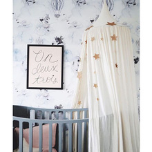 For Kids Bedding Round Dome Bed Canopy Cotton Linen Mosquito Net Curtain Children Girl Room 2018 Play Home Klamboe