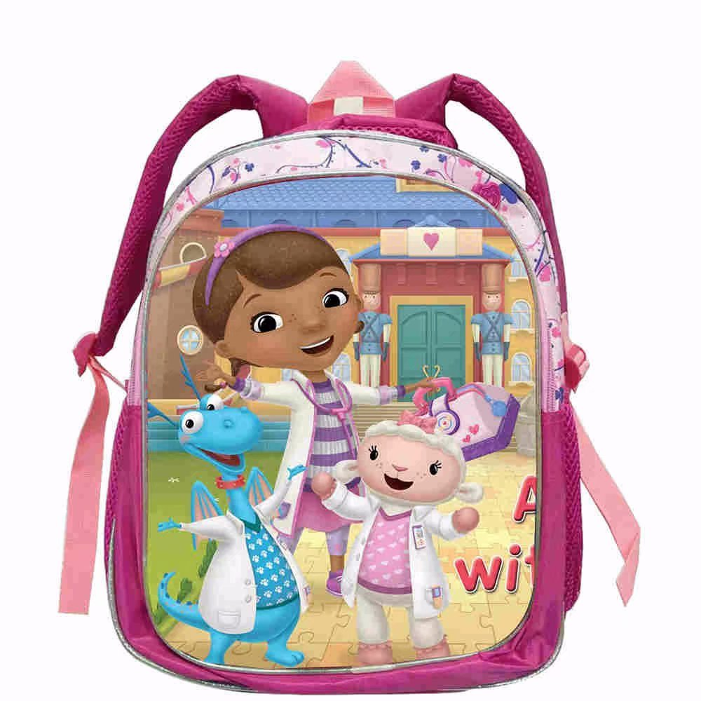 2019 New 12/16-inch Children Cartoon Doc Mcstuffins Book Bag Boys And Girls School Bags For Teenagers Mochila Backpack Kids Boys
