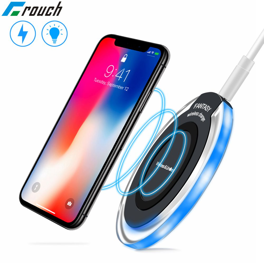 Crouch Mini Qi Wireless Charger for iPhone X  XS Max XR 8 Plus fast wireless charging for Samsung galaxy s9 s8 plus S7 Note 9 8(China)