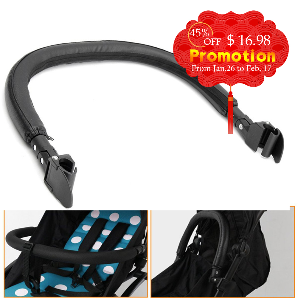 Baby Stroller Accessories Trolley Armrests Bumper Bar Handlebar With Pu Leather  Cover for Bugaboo Bee 3 Bee 5 Pram Pushchair