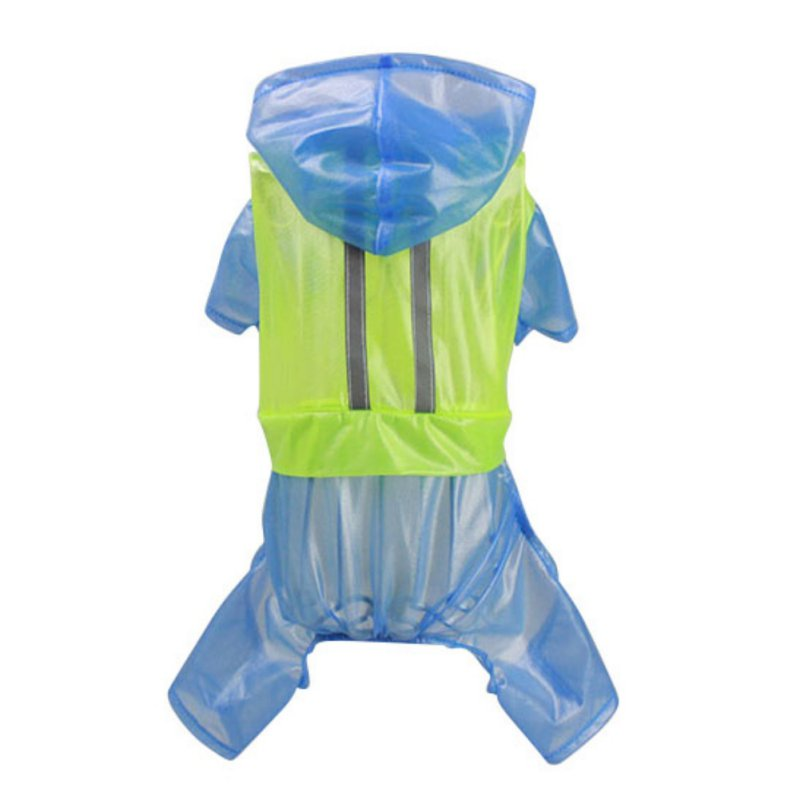 Impermeable Dog Raincoat Rain Slicker Waterproof Waterproof Jacket Hooded Pet Coat Cloth ...