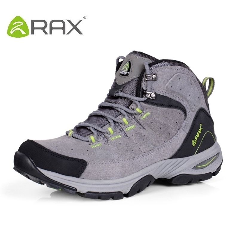 цена на Rax Men Hiking Shoes Top Quality Waterproof Hiking Shoes Men Suede Cowhide Outdoor Shoe Slip Resistant Climbing Shoes A359