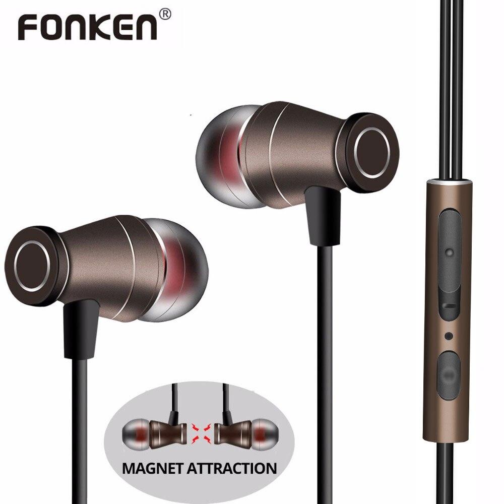 Wired magnetic earphones - long lasting earphones