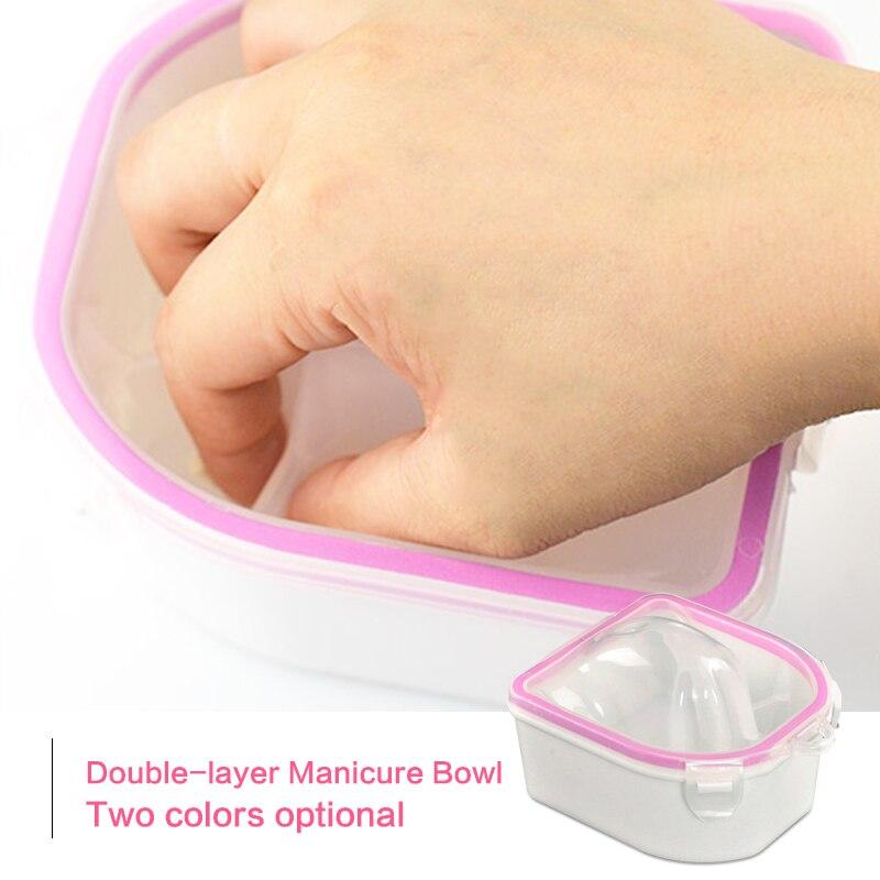 BlinkingNails Doble capa Spa Manicure Tazón 2 capas Tazón de - Arte de uñas - foto 2