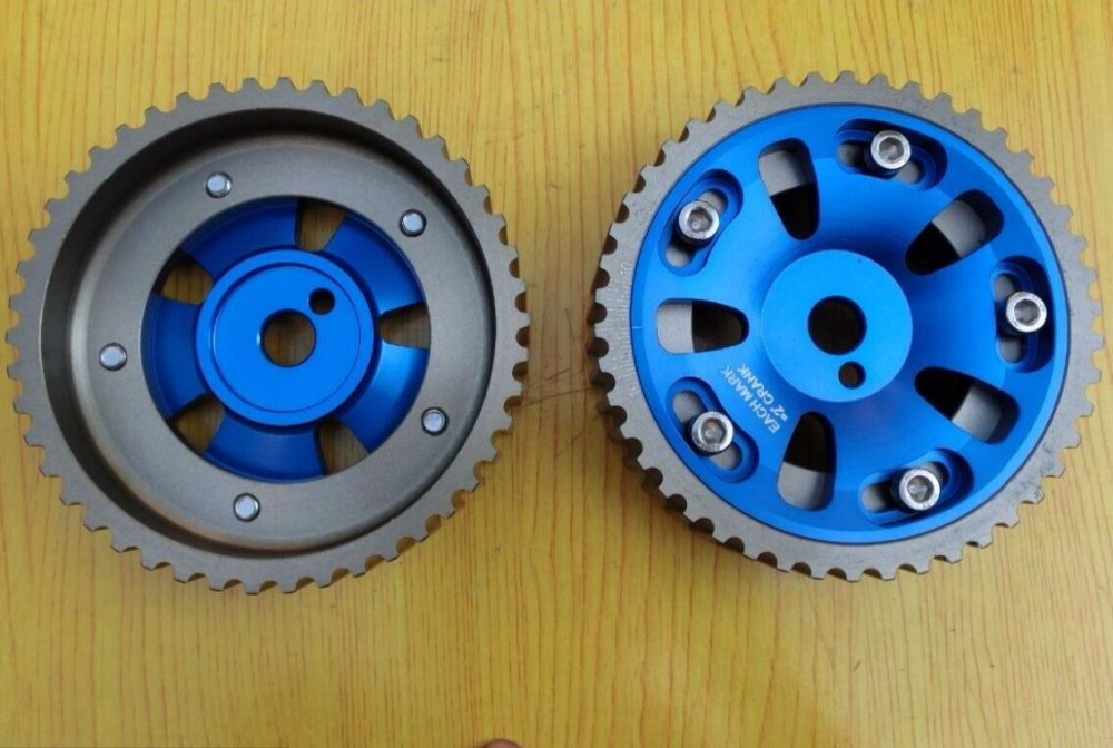 for Mitsubishi Lancer GTI GSR 1 8L DOHC 4G93 2pcs blue Adjustable CAM GEAR