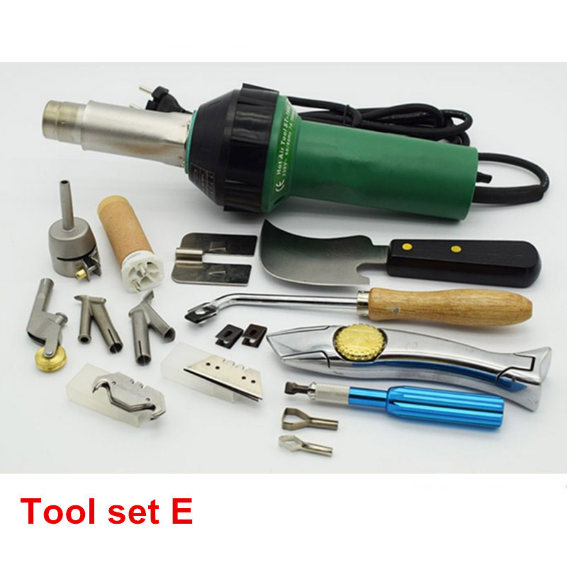 Free Shipping 1600W Plastic Hot Air Welding Gun With Accessories For Welder Machine