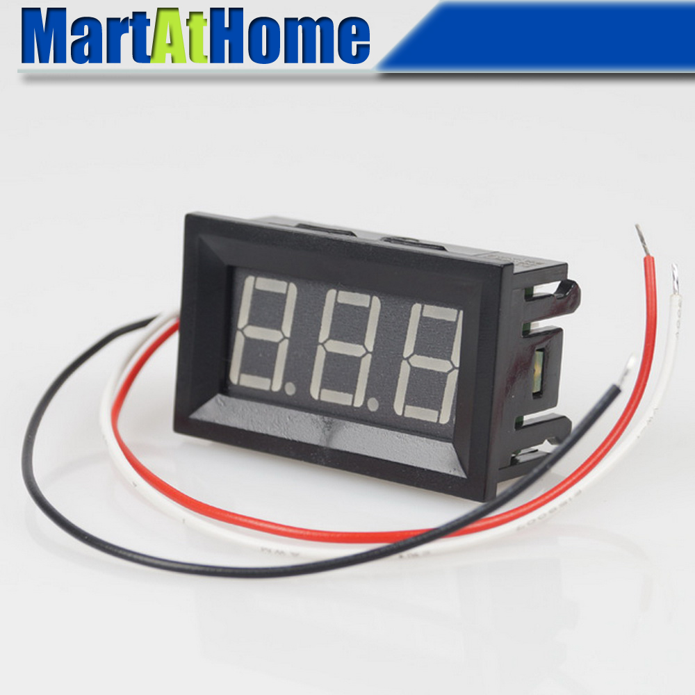 Argedo <font><b>10pcs</b></font> LED DC Digital <font><b>voltmeter</b></font> 0-100 V Panel meter Green/Red/Blue #BV177 @CF image