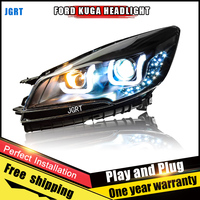 2PCS Car Style LED Headlights For Ford Kuga 2013 2015 For Kuga Head Lamp LED DRL