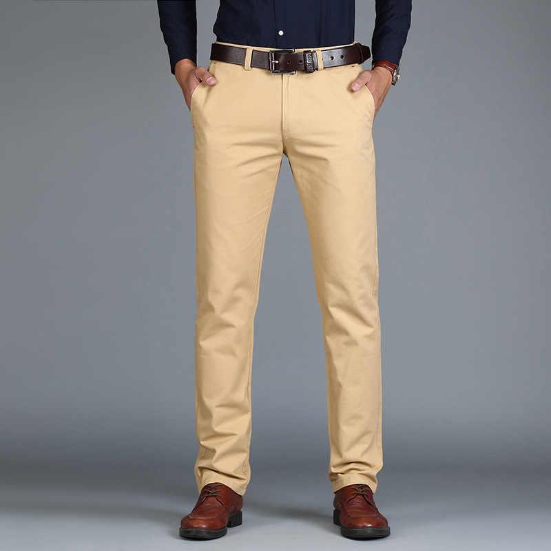 Мужские прямые брюки VOMINT, модные свободные повседневное брюки из хлопка, большой размер, для делового костюма, зеленые, коричневые, серые, 2019