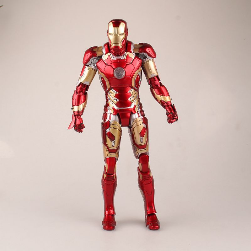 Hot Toys Avengers Age of Ultron Iron Man Mark XLIII MK 43 with LED Light PVC Action Figures Collectible Model Toys Dolls 30cm iron man gloves with led light pvc action figures collectible model toy 8 20cm