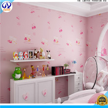 Children Room Non - Woven Wallpapers Hello Kitty Cats Environmentally Friendly Fashion Boys Girls Background Wallpaper(China (Mainland))